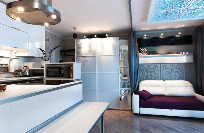 Интерьер стильной квартиры-студии