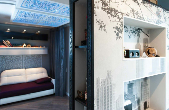 Дизайн интерьера стильной квартиры-студии