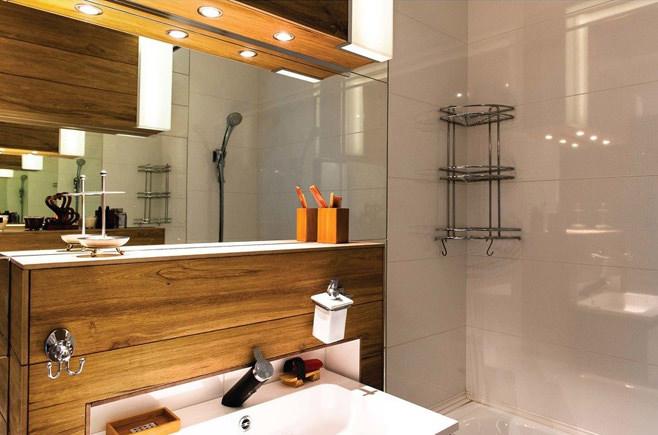 Ванная стильной квартиры-студии