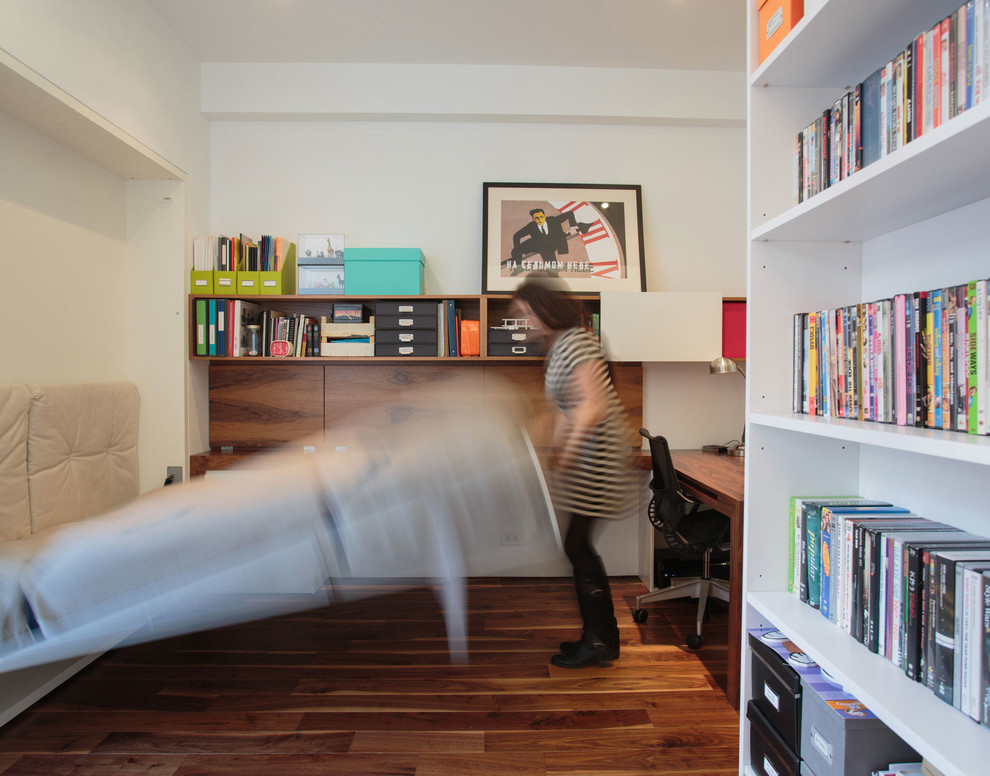 Кровать-трансформер в кабинете стильного дуплекса на Манхеттене