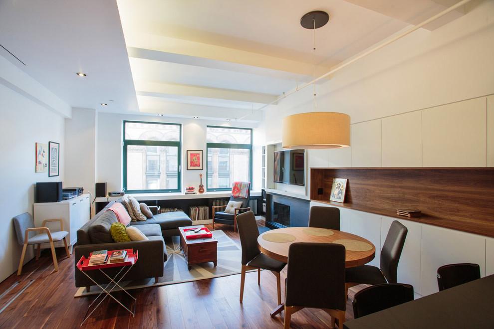 Интерьер стильного дуплекса на Манхеттене