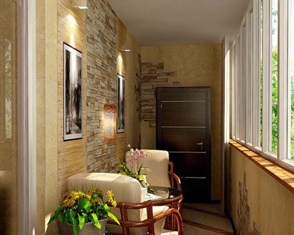 Фото дизайнерских решений для оформления балкона.