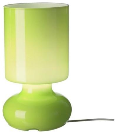 Салатовая настольная лампа