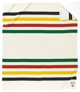 Одеяло в разноцветную полоску