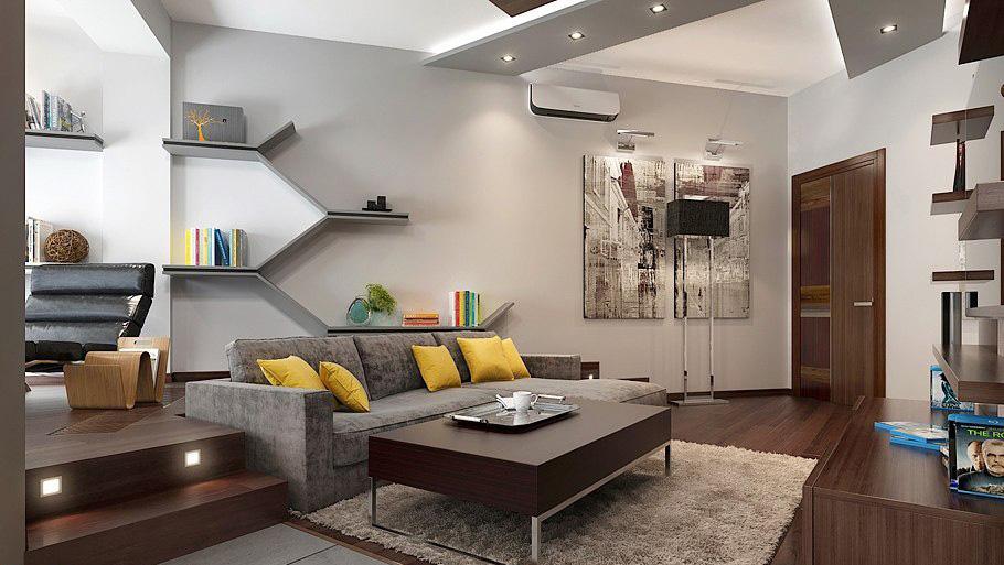 Интерьер строгой кухни в мужской квартире