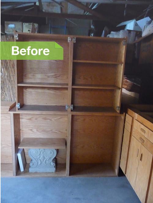 Деревянные шкафы до преобразования