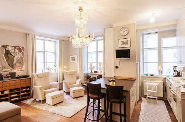 Интерьер квартиры-студии в Стокгольме