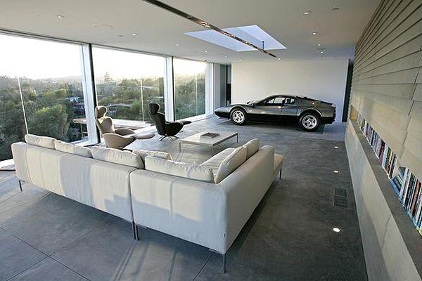 Креативный гараж оформленный в минимализме