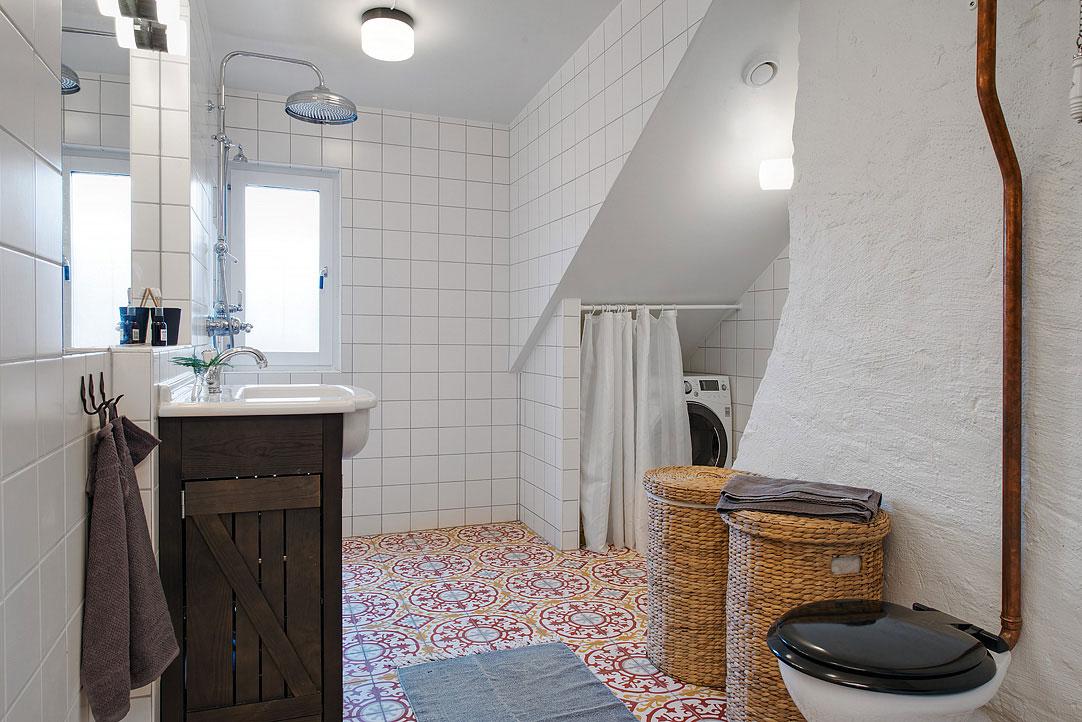 Интерьер ванной комнаты в скандинавском стиле