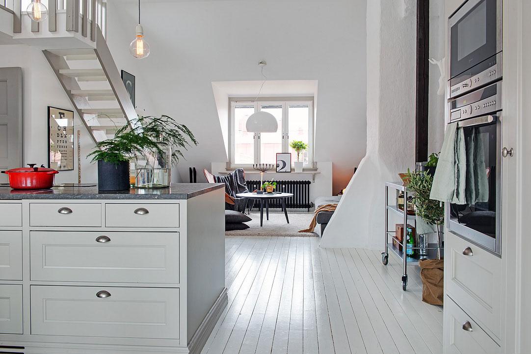 Интерьер маленького дома в скандинавском стиле