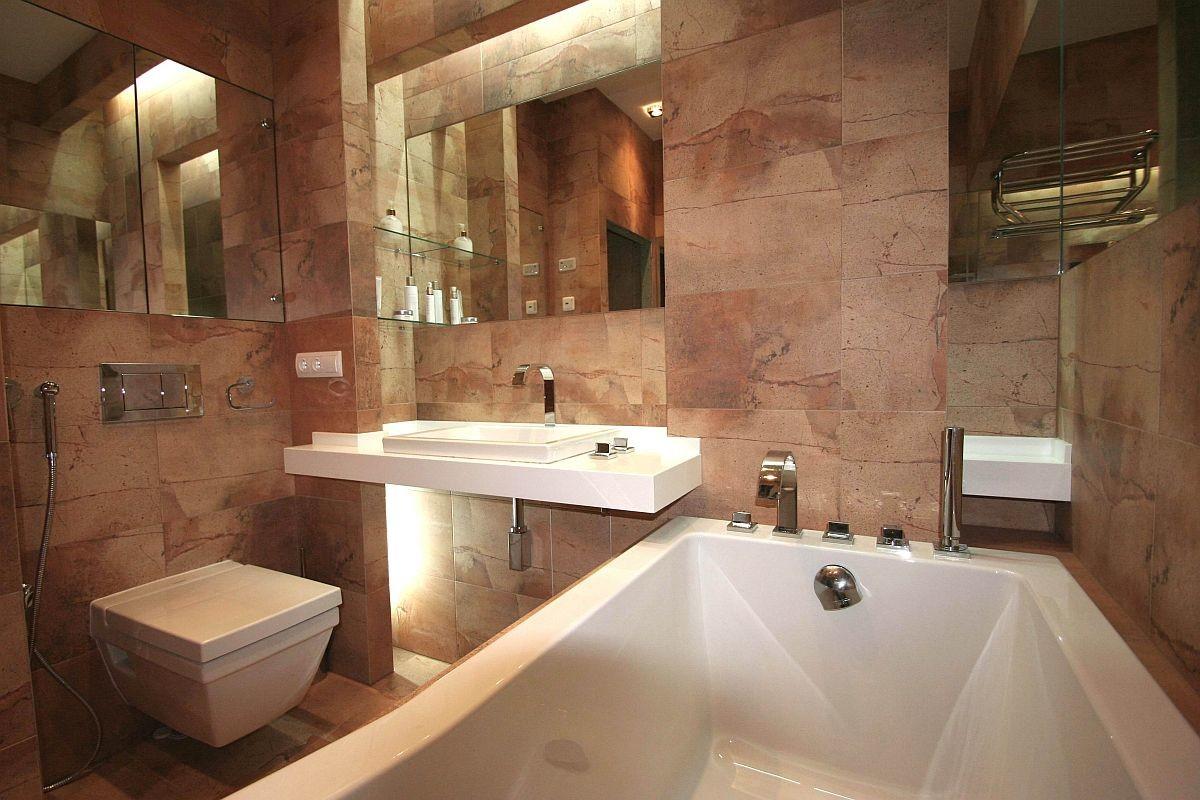 Натуральный камень в отделке ванной комнаты