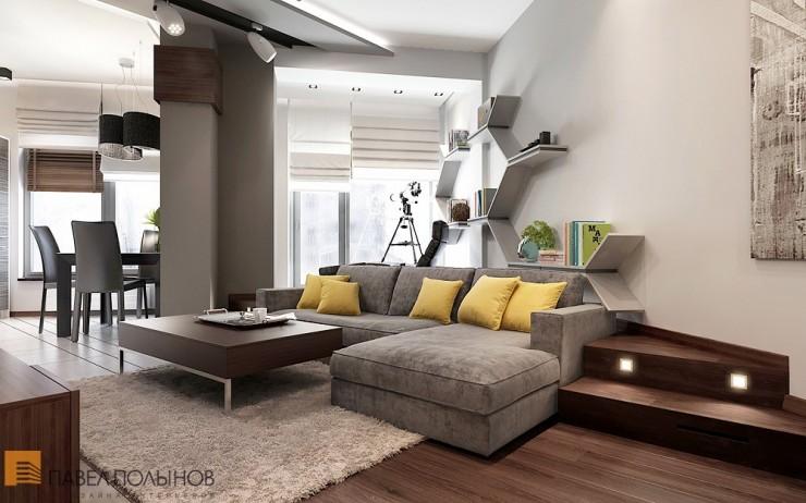 Уникальный минимализм в строгом интерьере квартиры-студии