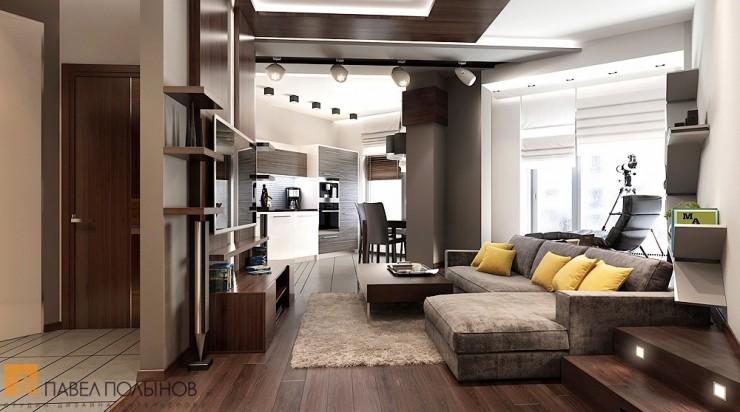 Современный минимализм в строгом интерьере квартиры-студии
