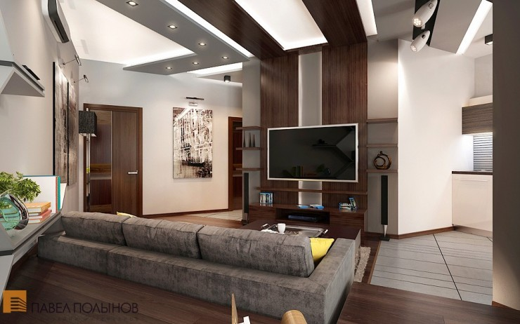 Элегантный минимализм в строгом интерьере квартиры-студии
