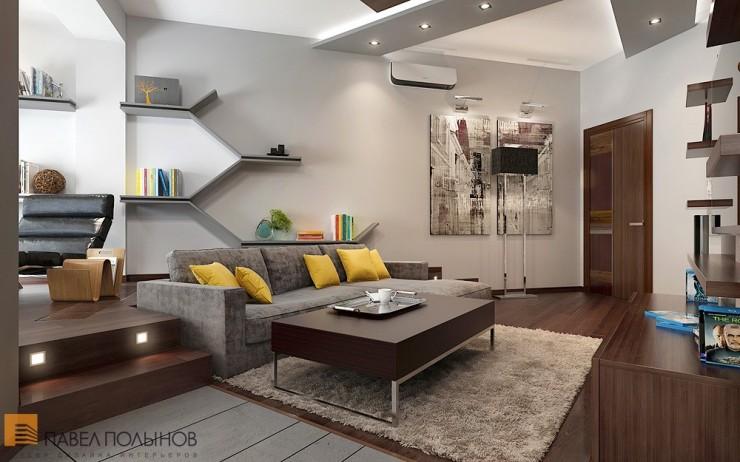 Красивый минимализм в строгом интерьере квартиры-студии