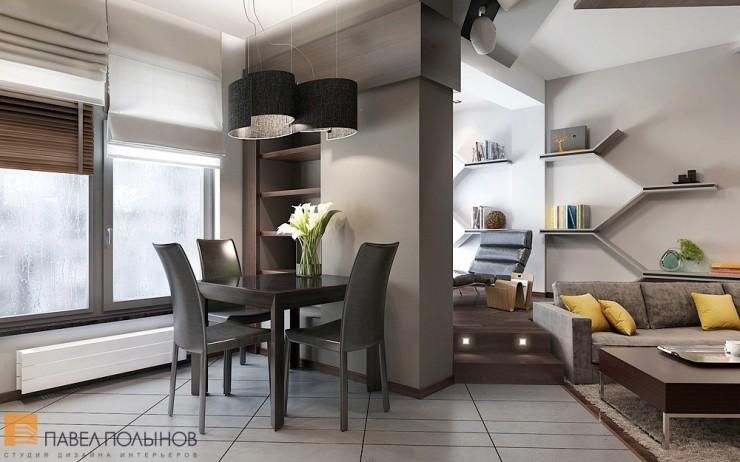 Креативный минимализм в строгом интерьере квартиры-студии