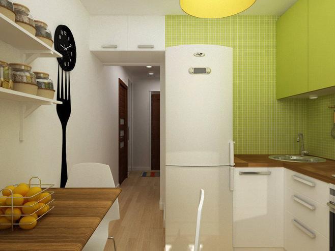 Кухня двухкомнатной квартиры в России