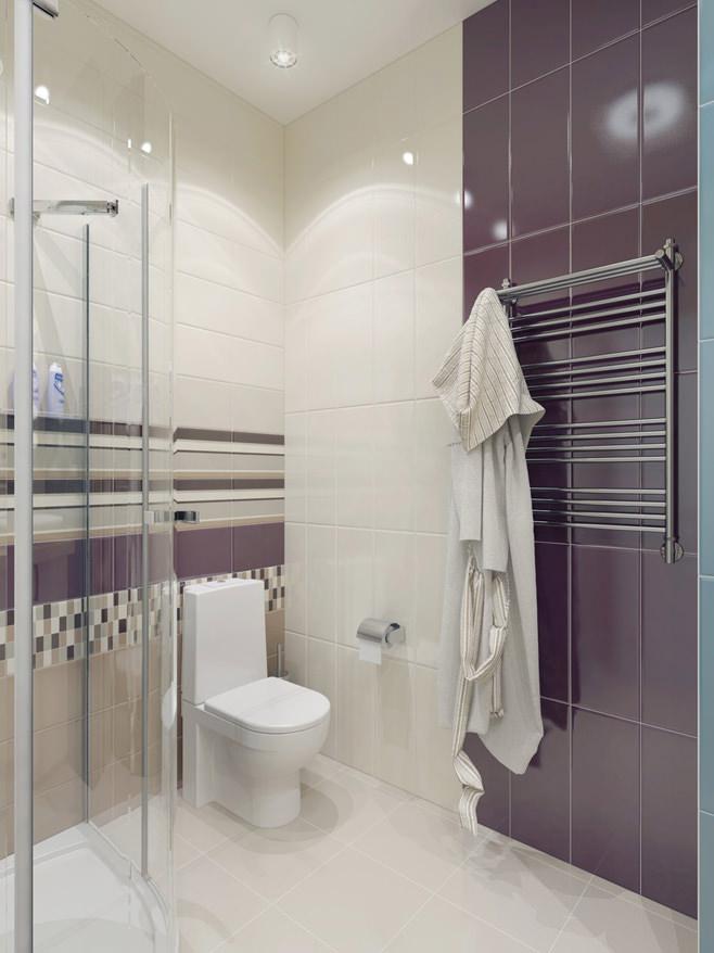Ванная светлой квартиры для девушки