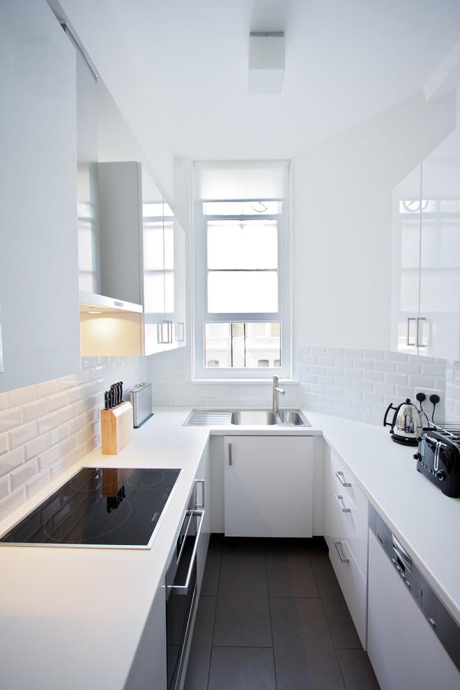 Увеличение пространства кухни в стиле минимализм