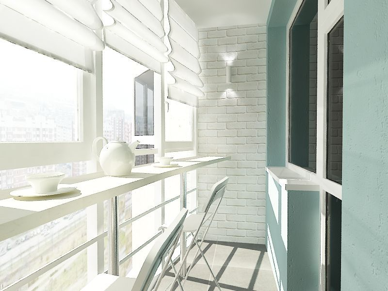Стол для завтрака на балконе