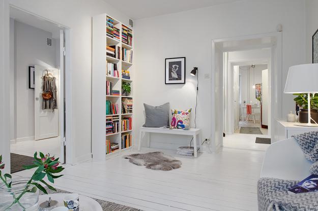 Интерьер небольшой квартиры в скандинавском стиле
