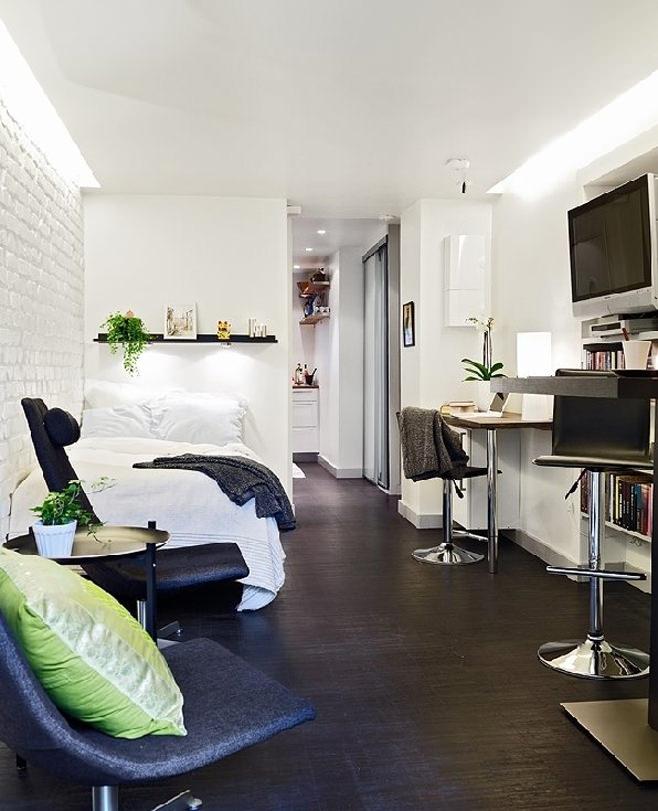 Интерьер квартиры-студии в Швейцарии
