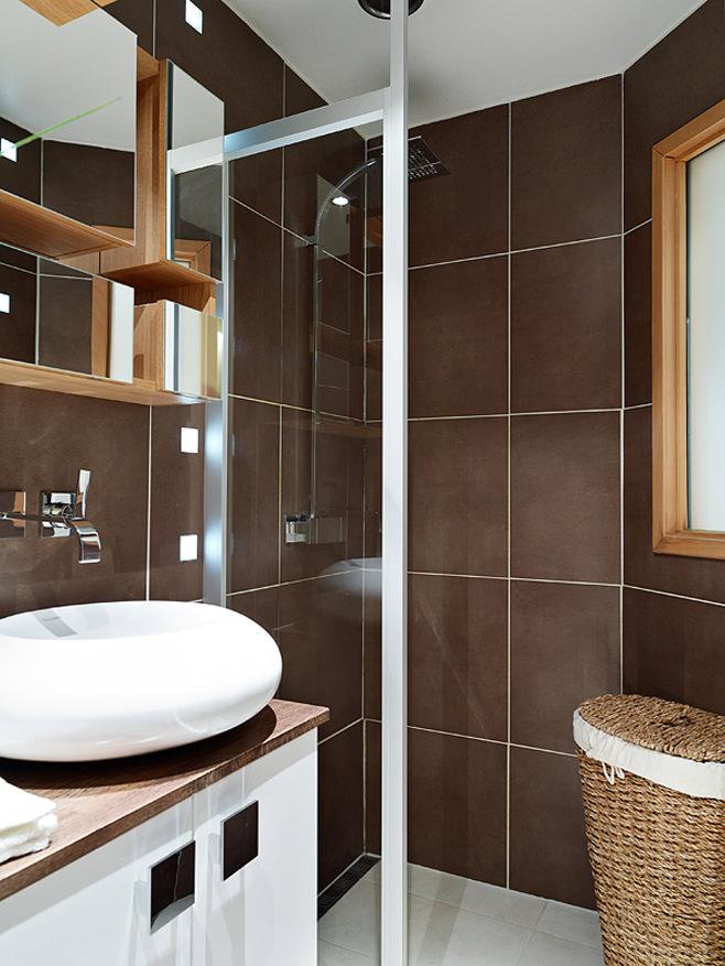 Ванная квартиры-студии в Швейцарии