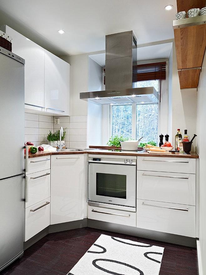 Кухня квартиры-студии в Швейцарии