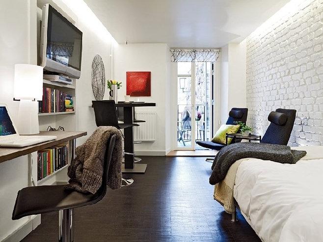 Дизайн квартиры-студии в Швейцарии