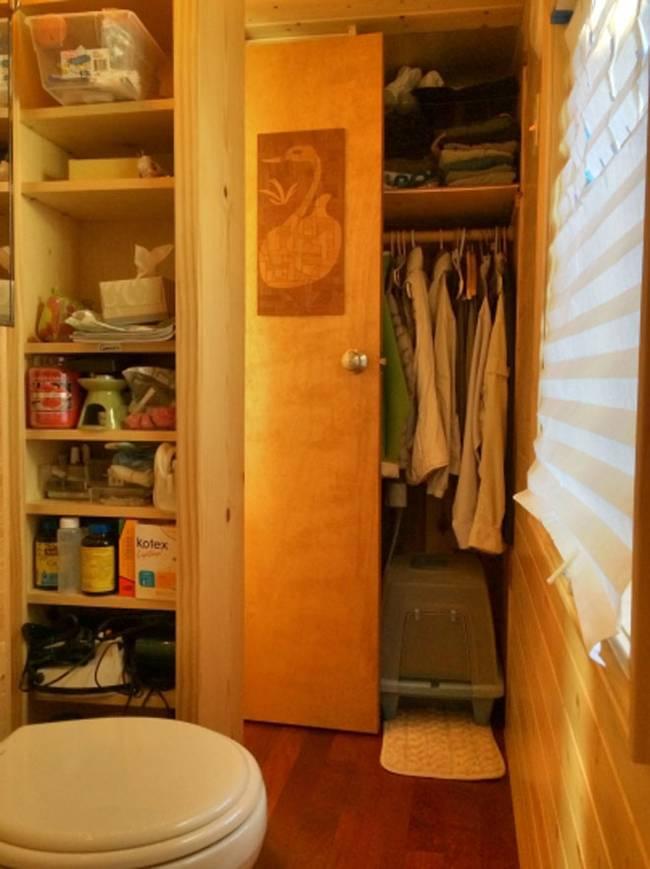 Система хранения в уютном маленьком доме