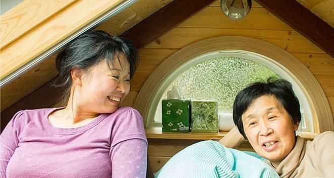 Уютный маленький дом для матери и дочери