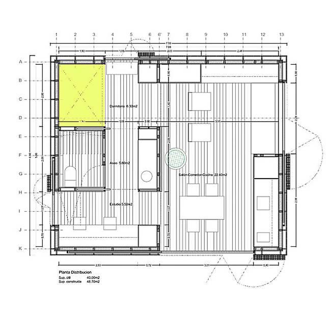 Эквадорский маленький домик в лесу. План проекта лесного дома