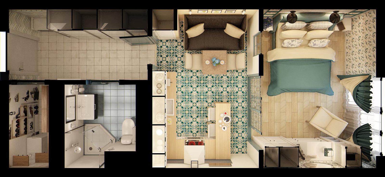 Дизайн ванны с натяжным потолком