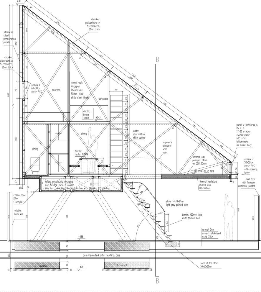 План-схема узкого жилья
