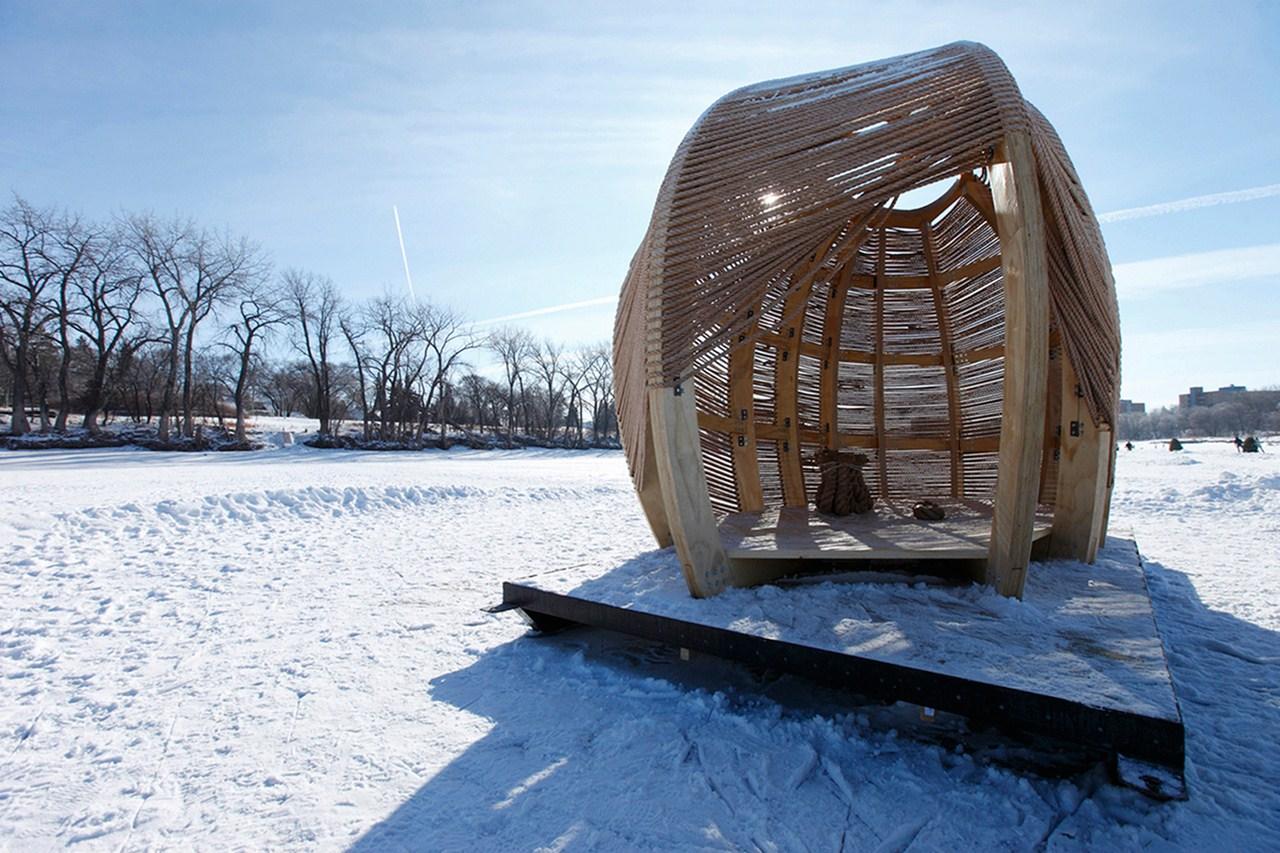 Верёвочный павильон от Kevin Erickson - фото 4