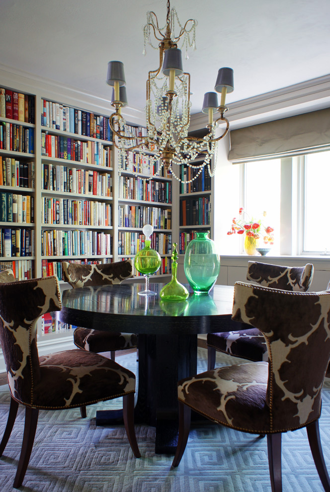 Библиотека в столовой