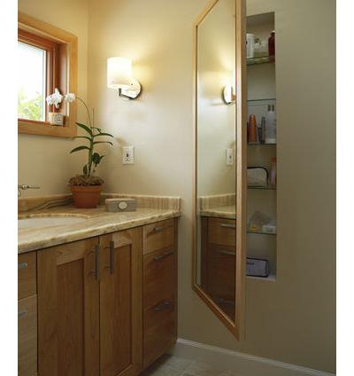 Встроенный модуль с зеркальной дверцей