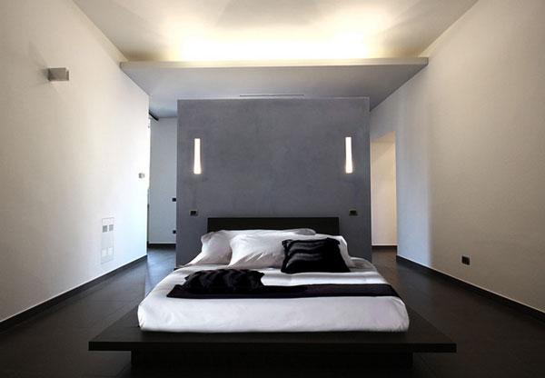 Стильная перегородка в интерьере спальни