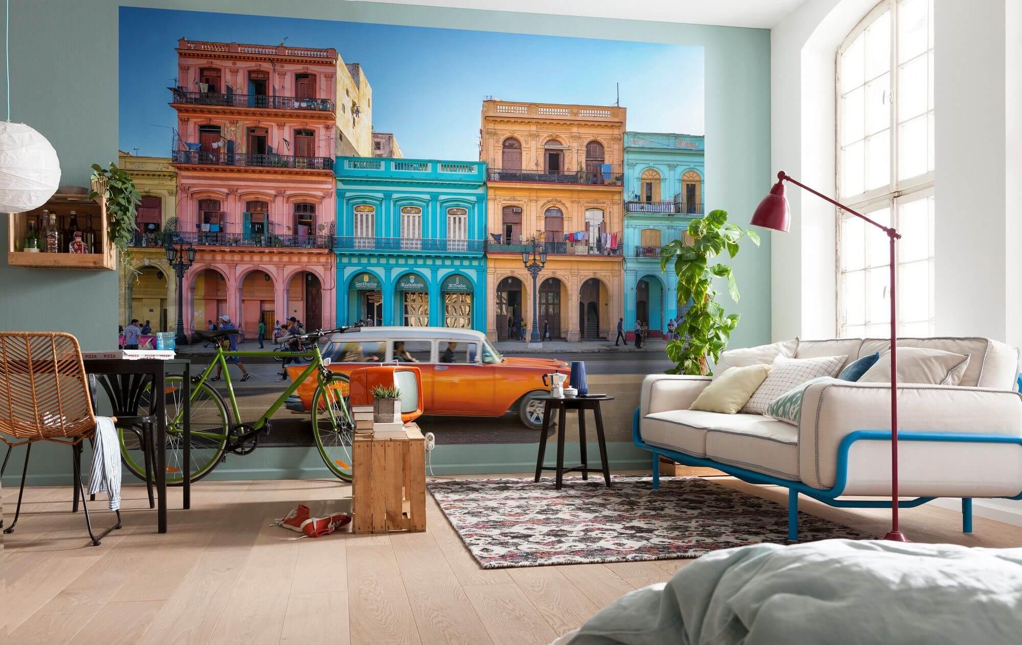 Фотообои в маленькой гостиной