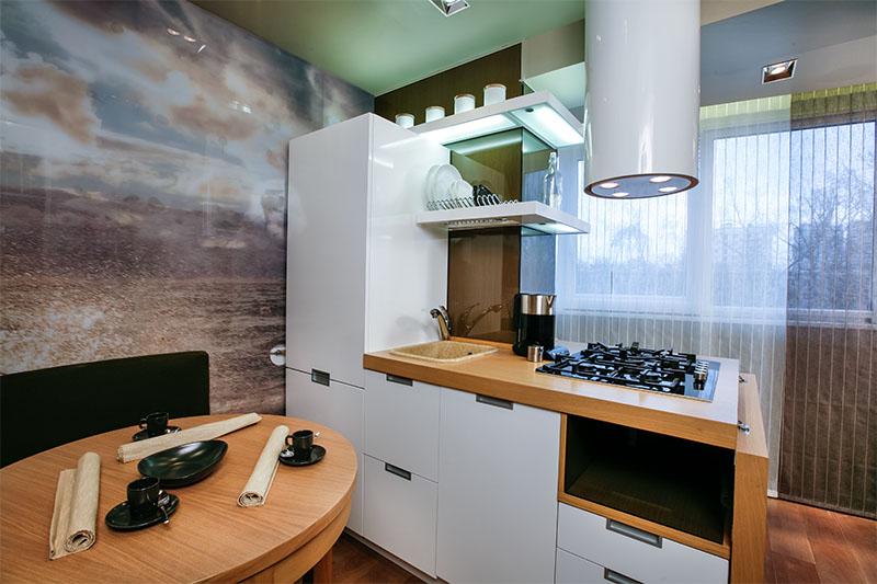 Ремонт кухни с лоджией фото