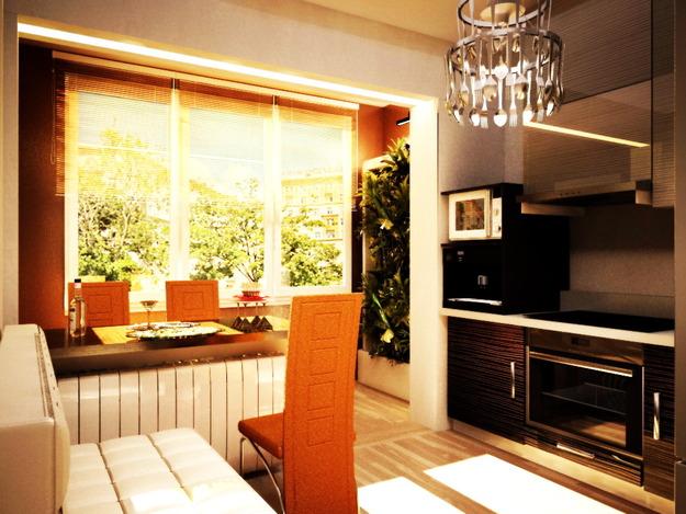 Дизайн кухни с балконом в дск квартире