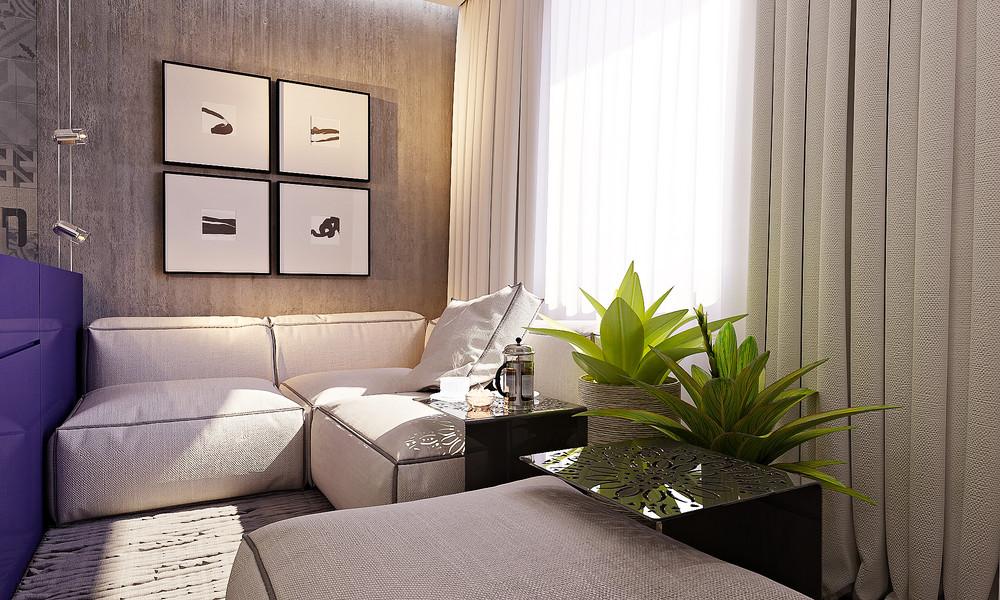 Яркий дизайн маленькой квартиры