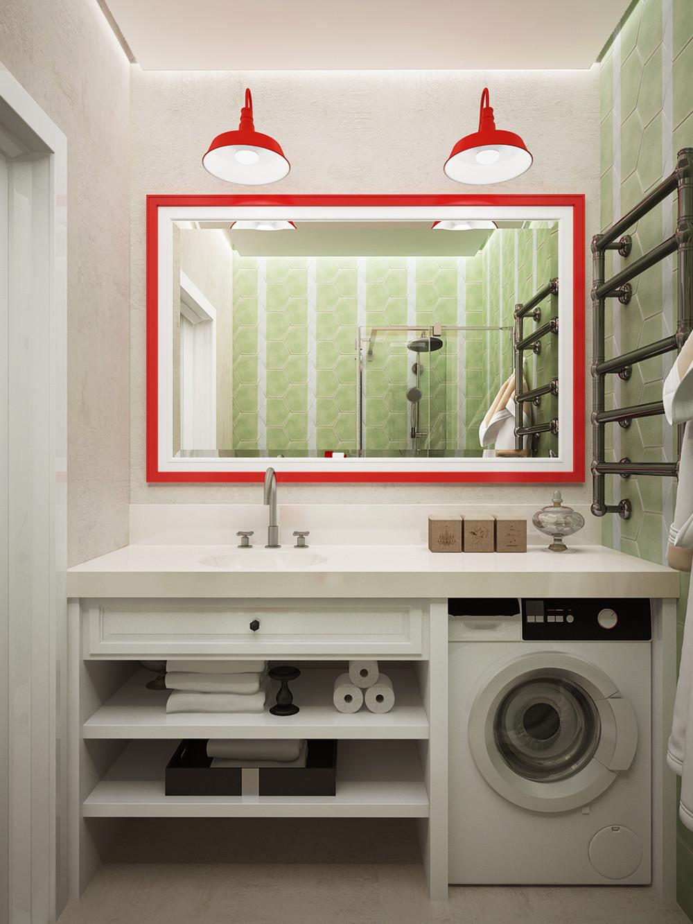 Дизайн санузла в светлых тонах - фото 3