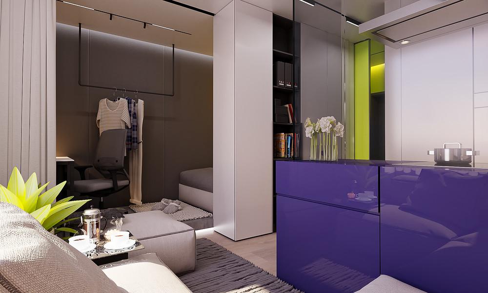 Яркий дизайн маленькой квартиры - фото 2