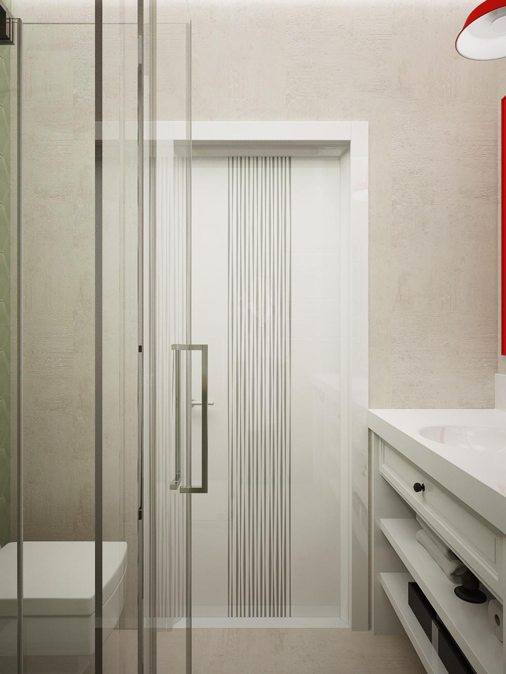 Дизайн санузла в светлых тонах - фото 2