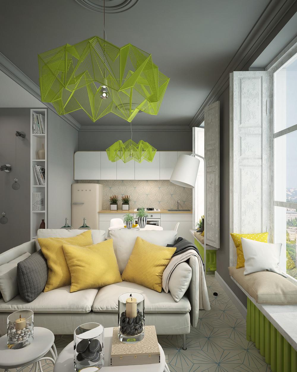 Дизайн квартиры с яркими акцентами