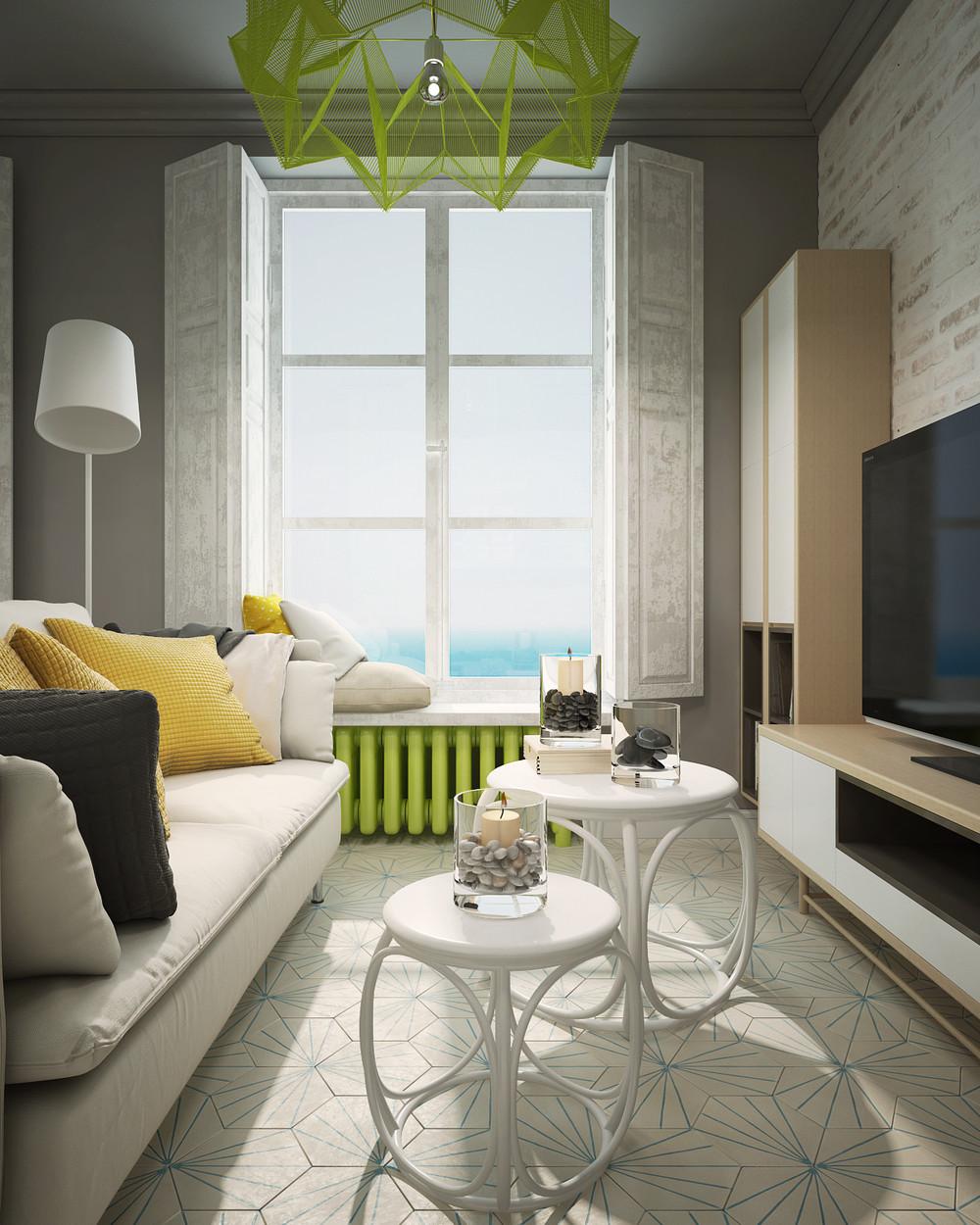 Дизайн квартиры с яркими акцентами - фото 2