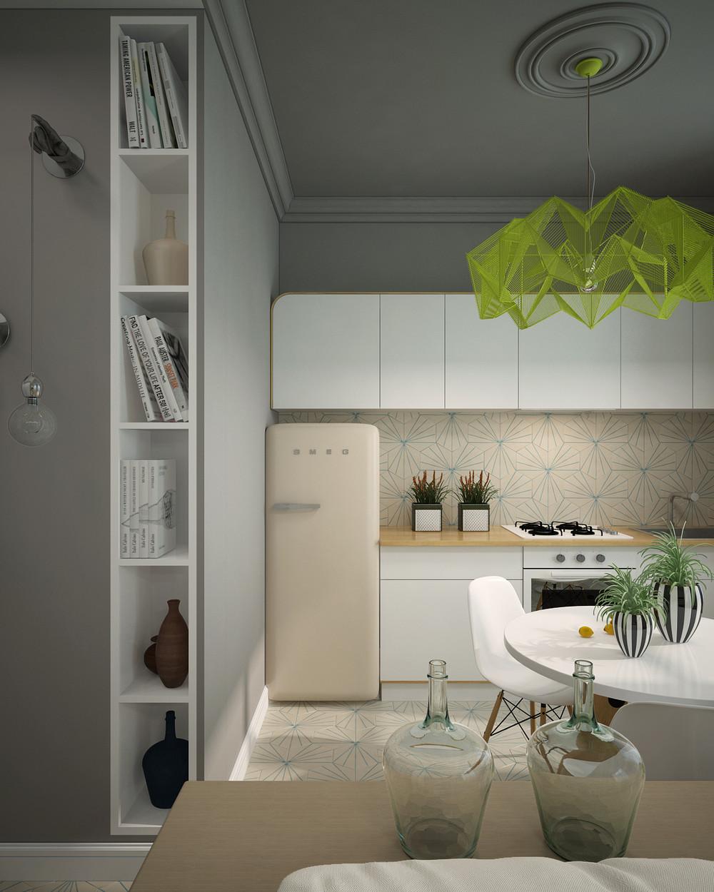 Дизайн кухни с яркими акцентами - фото 2