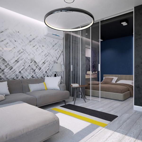 Спальня и гостиная в натуральных тонах