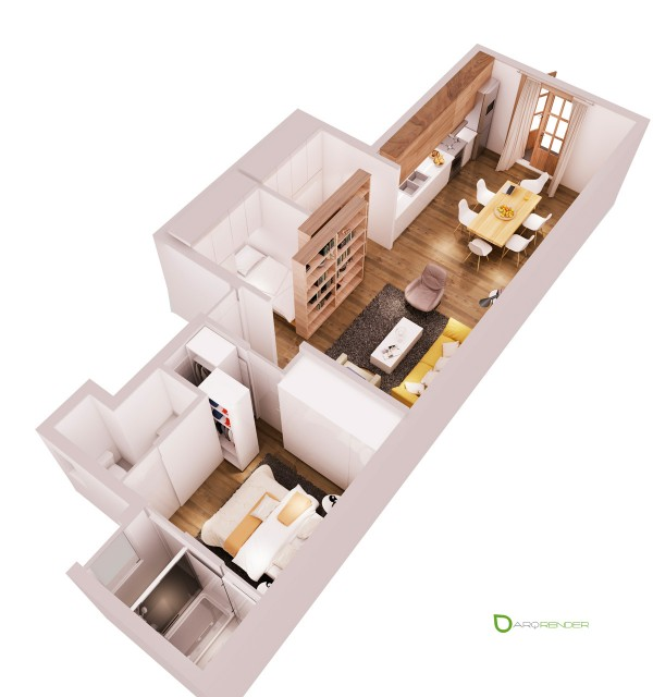 Планировка квартиры с одной спальней